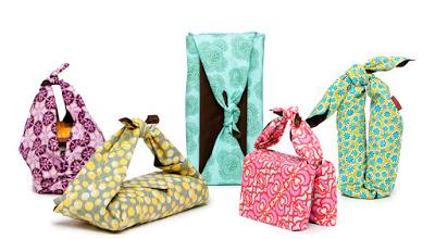 Emballages cadeaux en tissu originaux et colorés