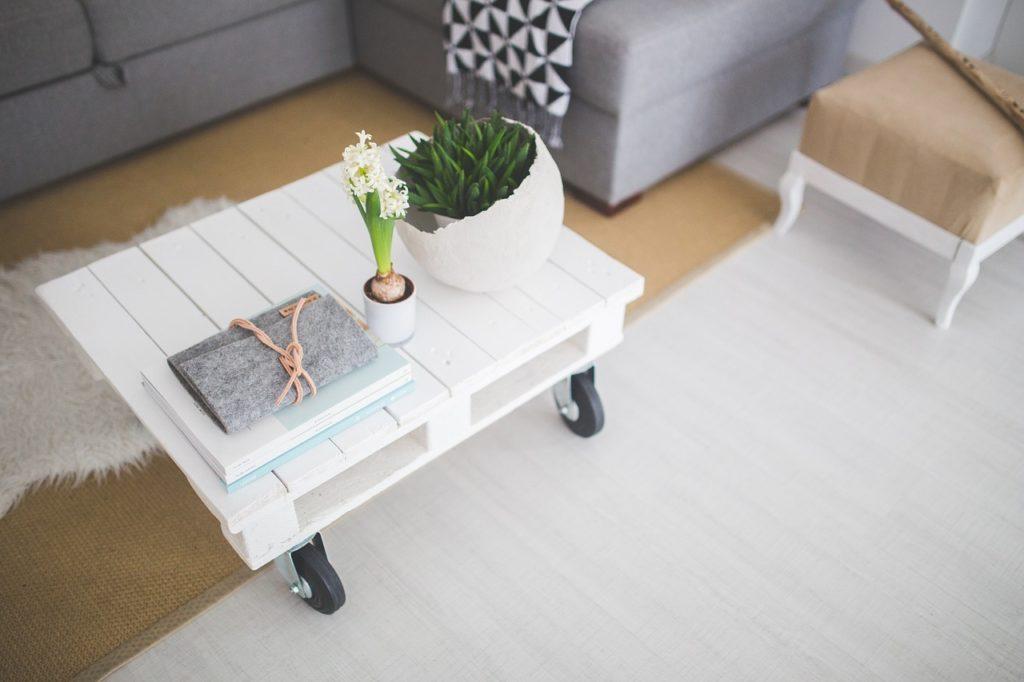salon minimaliste bien rangé