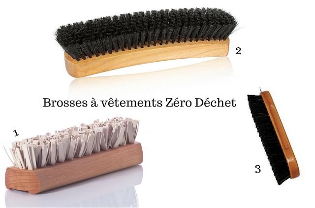 brosses à vêtements zéro déchet
