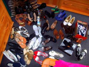 Beaucoup de chaussures