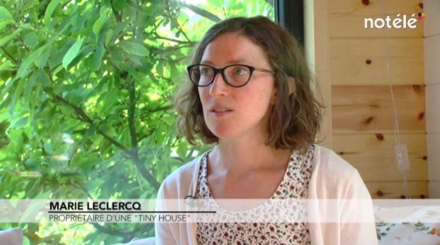 reportage sur la tiny house belge de Marie